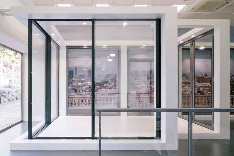 technal showroom. Black Bedroom Furniture Sets. Home Design Ideas